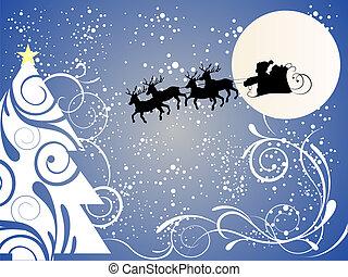 santa claus on sleight