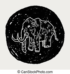 Mammoth doodle