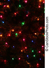 Christmas Tree Lights Abstract - An abstract of some...