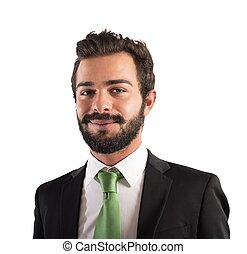 Smiling businessman - Portrait of a businessman smiling and...