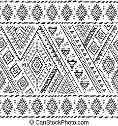Tribal Mexican vintage ethnic seamless pattern - Vector...