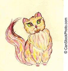Persian Cat Sketch