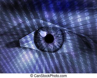 Electronic eye illustration