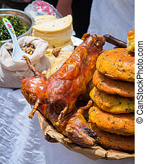 Fried Guinea Pig Cuy in Peru