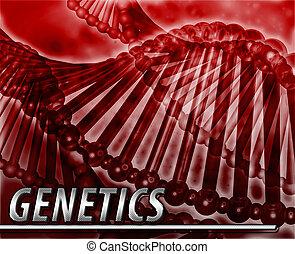 genética, abstratos, conceito, digital,...