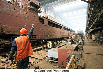 Shipyard - Building the multi-purpose dry cargo sea-river...