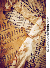 Music sheets - Vintage music sheets background