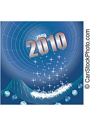 Hi-Tec New Year, Black hole of time, vector illustration
