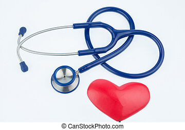 estetoscopio, y, Un, heart, ,
