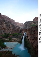 havasu falls in an indian reservation near grand canyon