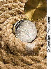 Compass on rope - Compass on an old rope