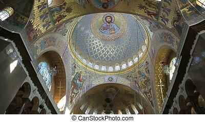 Painting on the dome of the Naval Cathedral of Saint...