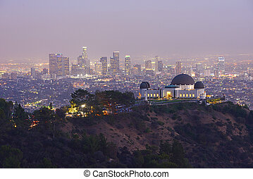 Griffith Observatory in Southern California downtown