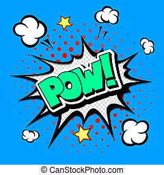 Pow - Comic Speech Bubble, Cartoon - Pow - Comic Speech...