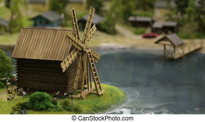 the layout of the old wooden mill