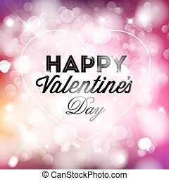Vector Happy Valentine's card with love text