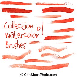 Vector collection of watercolor brushes