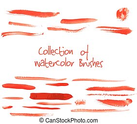 Vector collection of watercolor brushes - Vector collection...