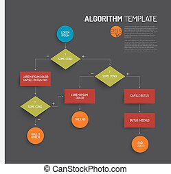 Abstract algorithm vector template with flat design - dark...