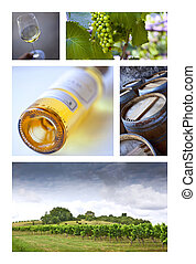 Wineries - Viticulture and French wineries on a collage
