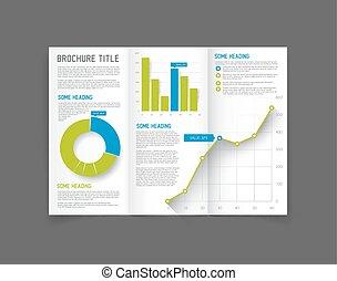 Modern Vector three fold brochure design template - Modern...