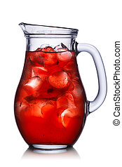 Jug silhouette - Backlit pitcher with iced drink....