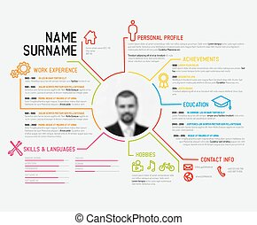 Original cv / resume template - Vector original minimalist...