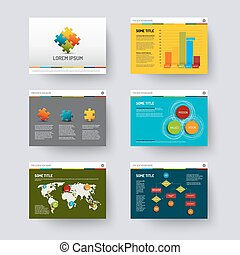Template for presentation slides - Vector Template f
