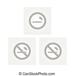 cigarette signs - signs with cigarette and strikethrough...