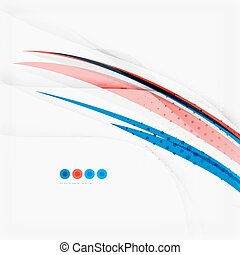 Red and blue color swirl concept