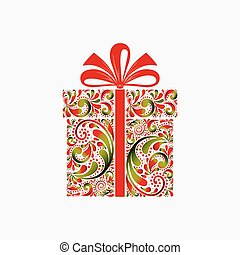 Christmas gift box.