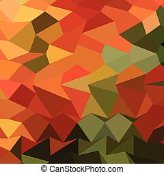 Deep Saffron Orange Abstract Low Polygon Background - Low...