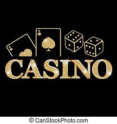 Casino - golden emblem or badge