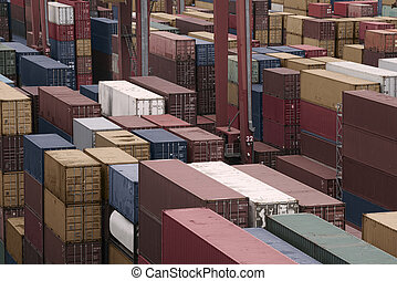 cargo freight containers - Containers in a Cargo freight...