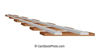 train track - vector illustration of the train track,...