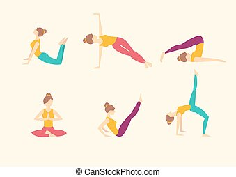 Yoga Poses. Vector illustration
