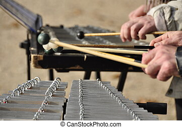 Xylophone Musicians  - Xylophone playing hands