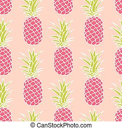 Seamless pineapple pattern - Seamless background with...