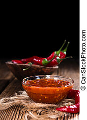 Chili Sauce (Sambal Oelek) - Portion of Chili Sauce (Sambal...