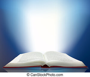 ray of light shining from a book - Magic ray of light...