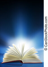 Light book - A beam of light shines out from an open book