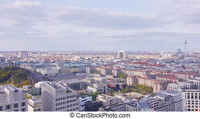 berlin skyline wide angle panorama - berlin skyline...