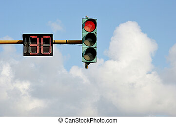 traffic lights - thirty seconds before it green light on...