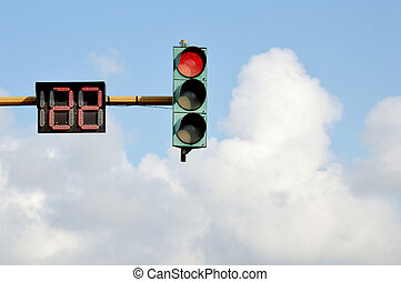 traffic lights - twenty-two seconds before it green light on...