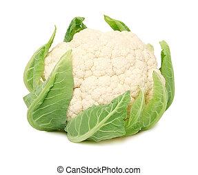 頭, 成熟, 花椰菜, 離開,  (isolated), 綠色