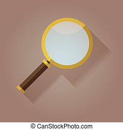 Magnifying Glass flat icon shadow