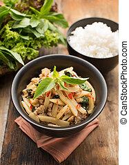 Pad Nor Mai (Thai food) - Pad Nor Mai, STIR FRIED BAMBOO...