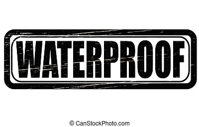 Waterproof - Stamp with word waterproof inside, vector...
