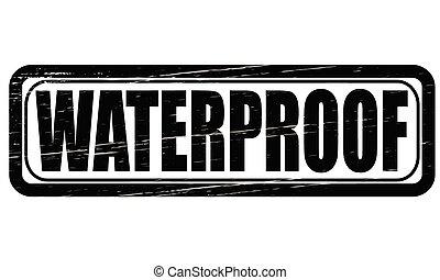 Waterproof - Stamp with word waterproof inside, vector...