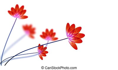 Transparent red flowers